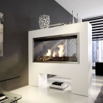 2 Sided Electric Fireplace