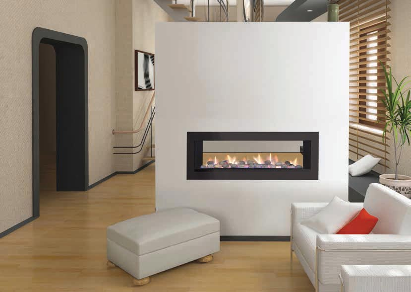 2 Sided Gas Fireplace Insert Fireplace Designs