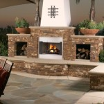 2 Sided Outdoor Fireplace
