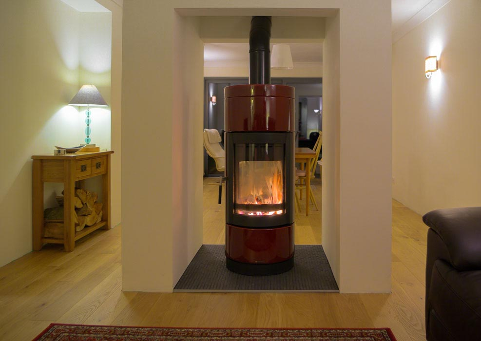 2 Sided Wood Fireplace