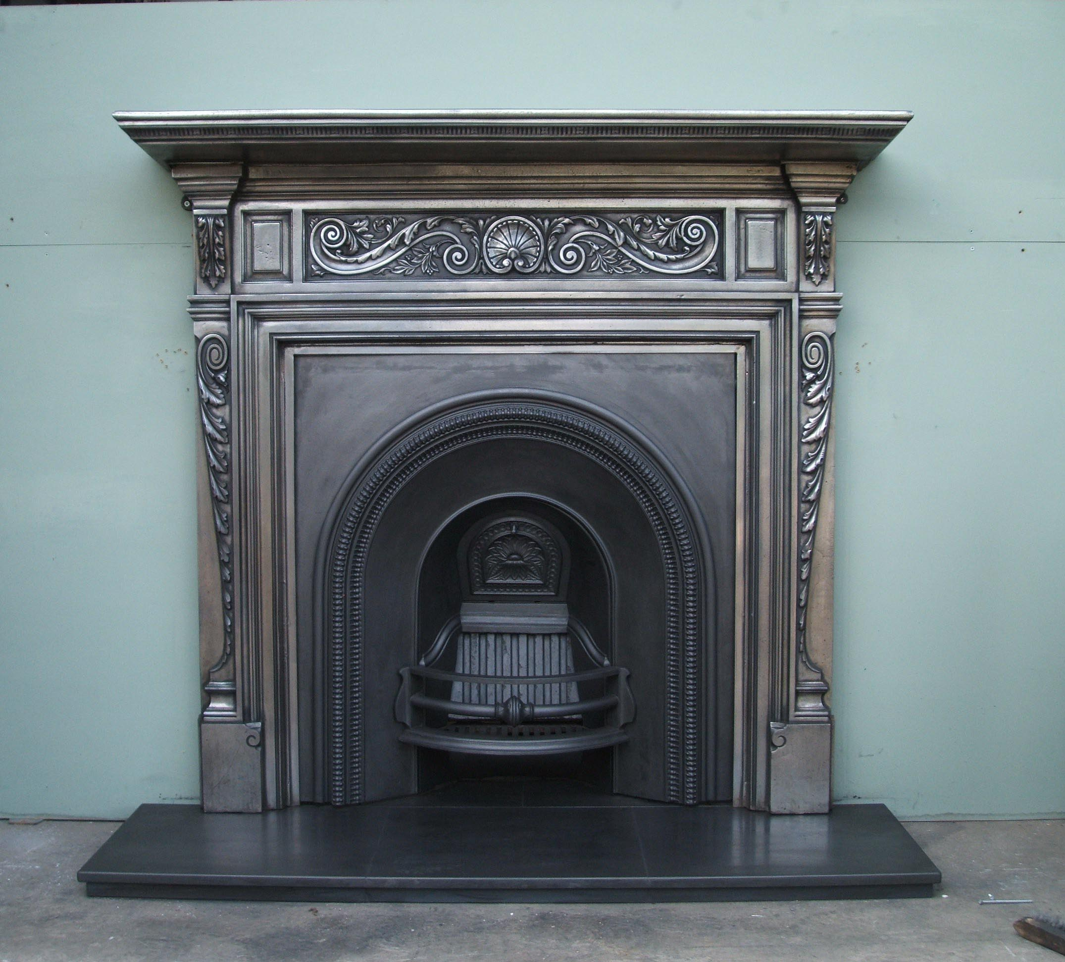 Antique Metal Fireplace Surround