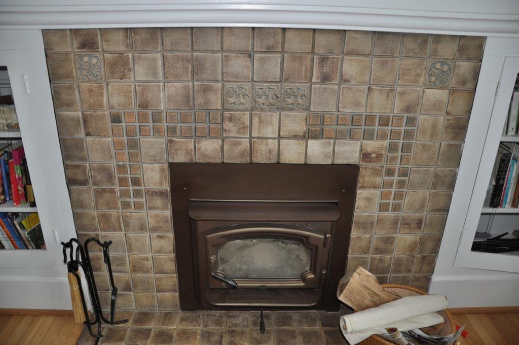 Antique Tile Fireplace Surround | Fireplace Designs