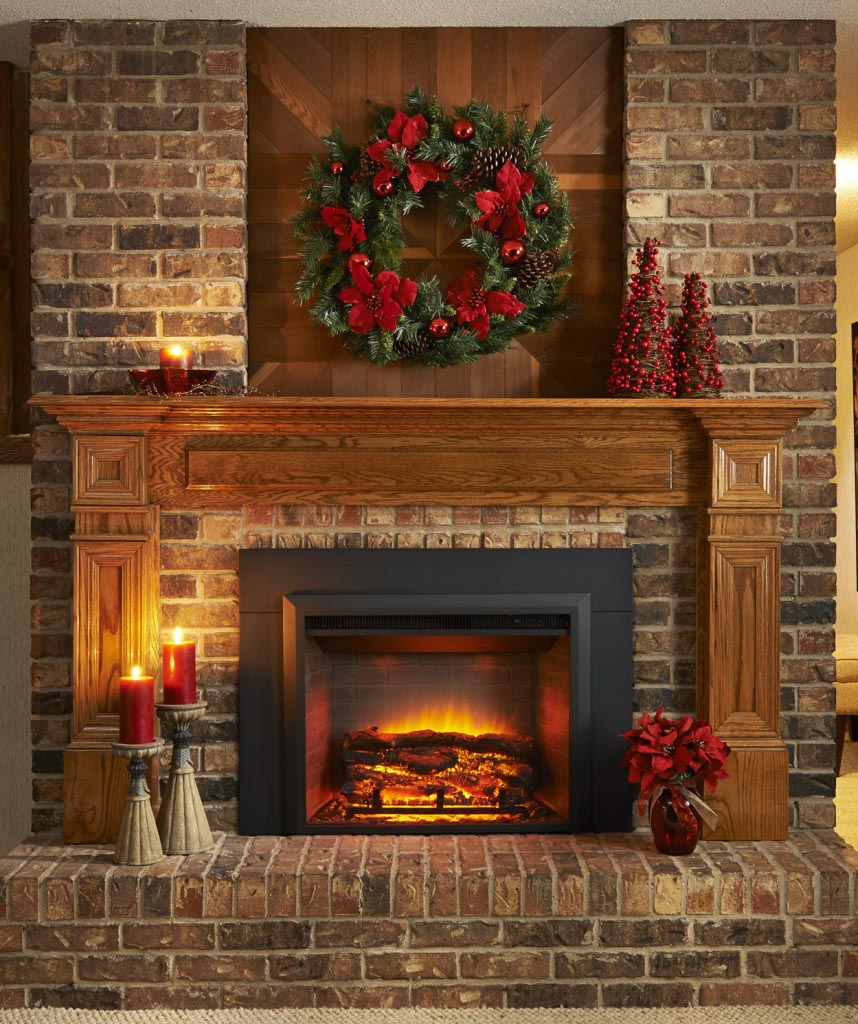 Artificial Fire Insert - Fake Fireplace Insert: Logs And More Accessories For Heaters