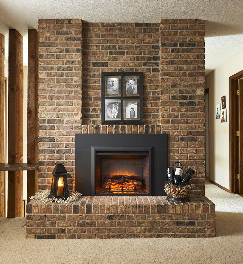 ... Artificial Fireplace Inserts ... - Fake Fireplace Insert: Logs And More Accessories For Heaters