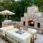 Brick Outdoor Fireplace Photos