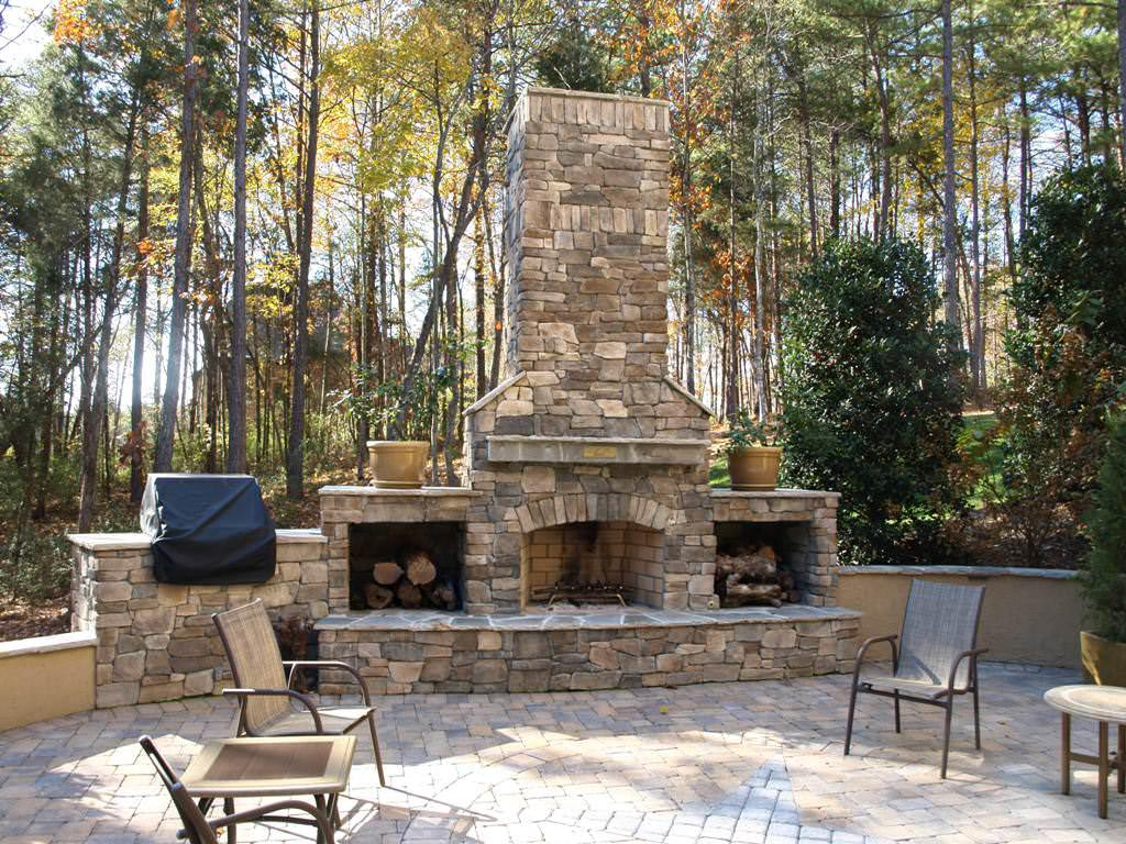 brick outdoor fireplace plans fireplace designs