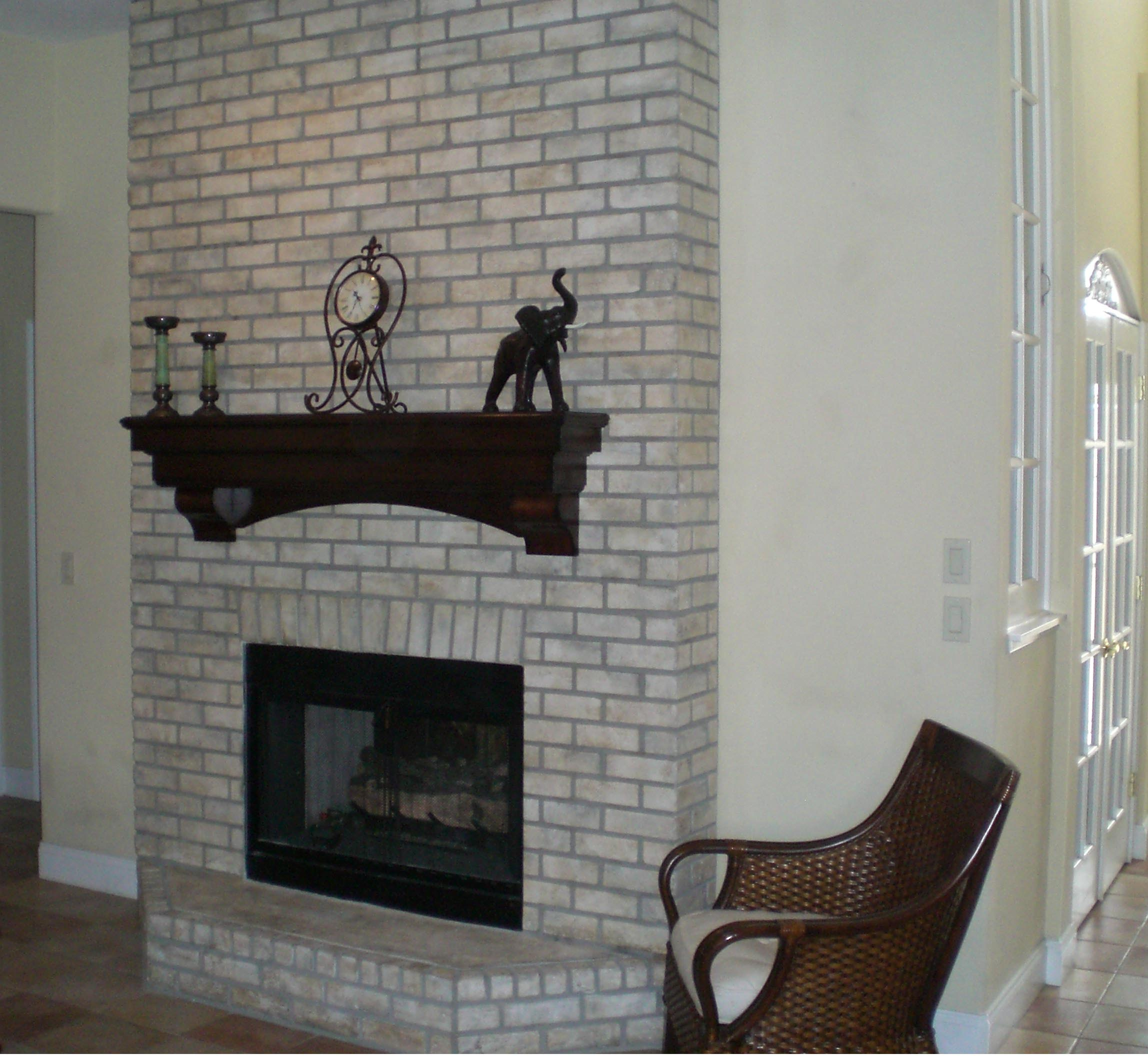 Brick wall fireplace makeover fireplace designs Brick fireplace wall decorating ideas