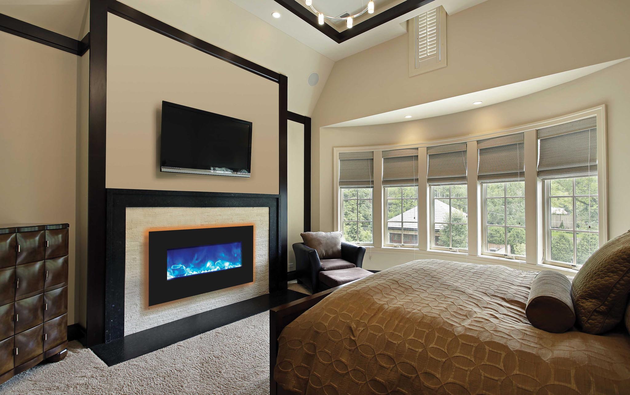 Built-in Wall Electric Fireplace