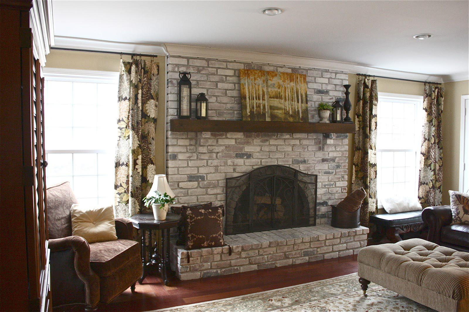 Can you Paint Brick Fireplace