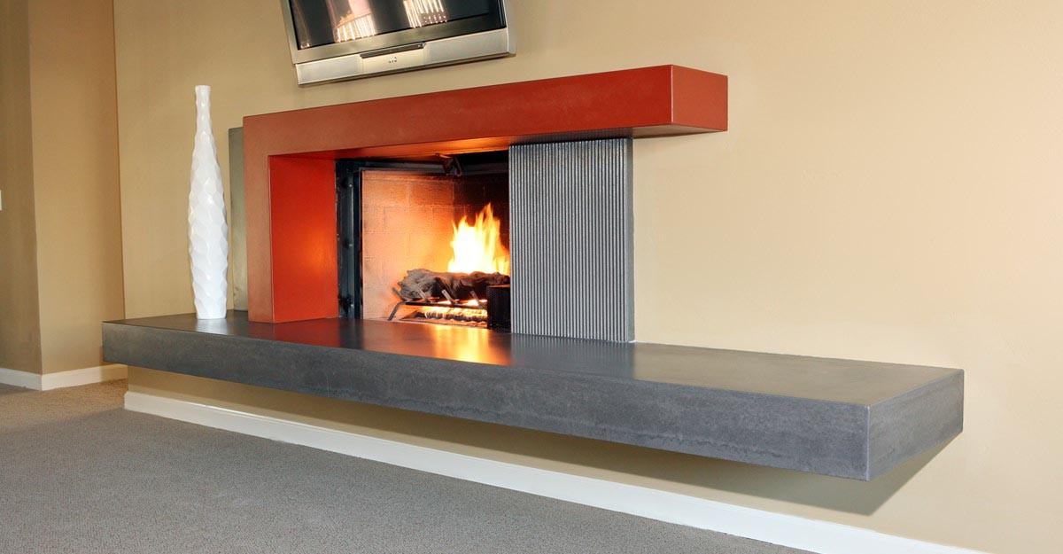 Concrete Fireplace Surround Diy Fireplace Designs