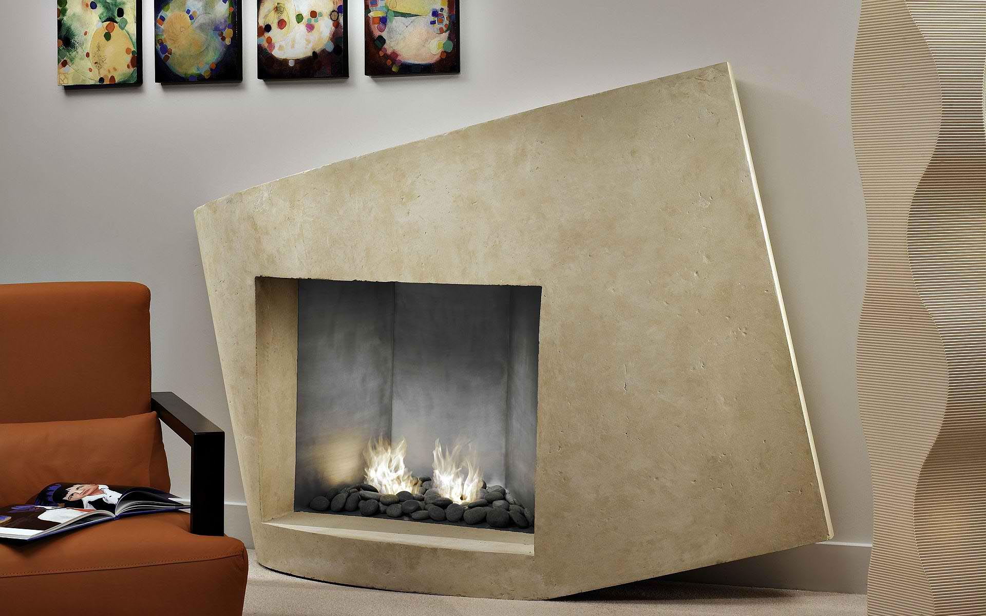 Contemporary Fireplace Surrounds and Mantels