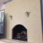 Painting Our (Faux) Stone Fireplace - Juniper Home