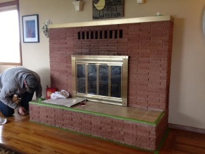 DIY Brick Fireplace Makeover