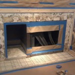 DIY Concrete Fireplace Surround