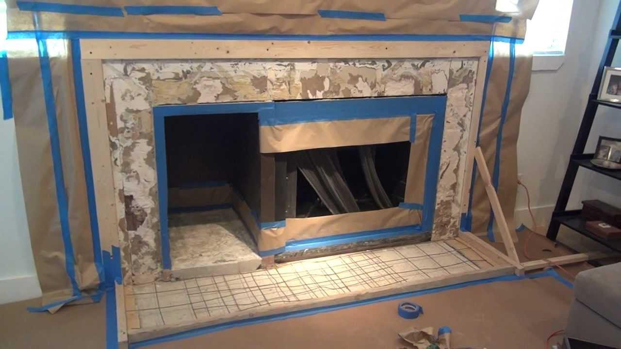 diy concrete fireplace surround - How To Build A Fireplace Surround