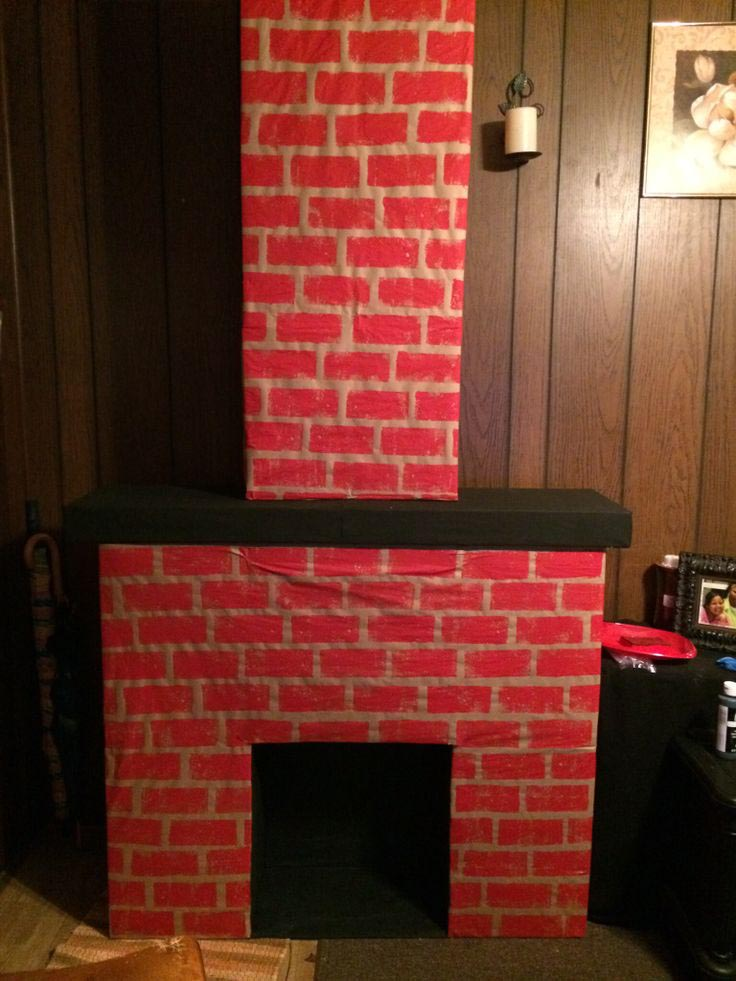 Inspiration DIY Fake Fireplace : DIY Fake Fireplace Cardboard. Diy fake fireplace cardboard. fireplace design
