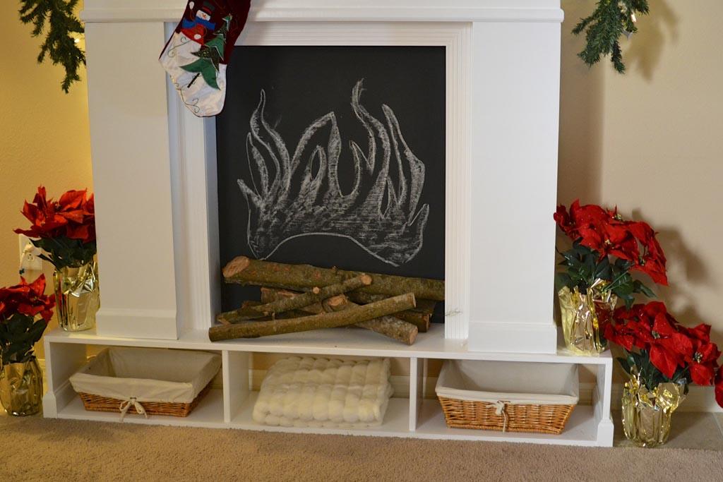 DIY Fake Fireplace Mantel | Fireplace Designs