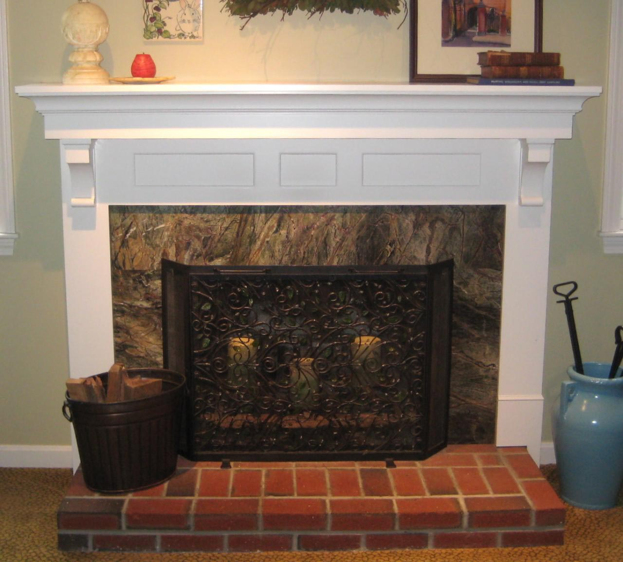 Diy fireplace mantel kits fireplace designs for How to design a fireplace mantel