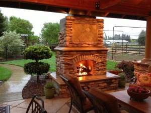 DIY Outdoor Brick Fireplace