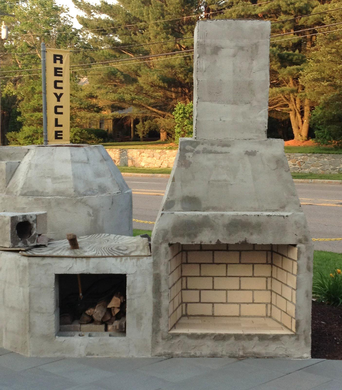 Diy outdoor fireplace is perfect idea fireplace designs for Outdoor fireplace plans