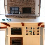DIY Painting Brick Fireplace