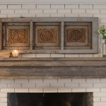 DIY Rustic Fireplace Mantel