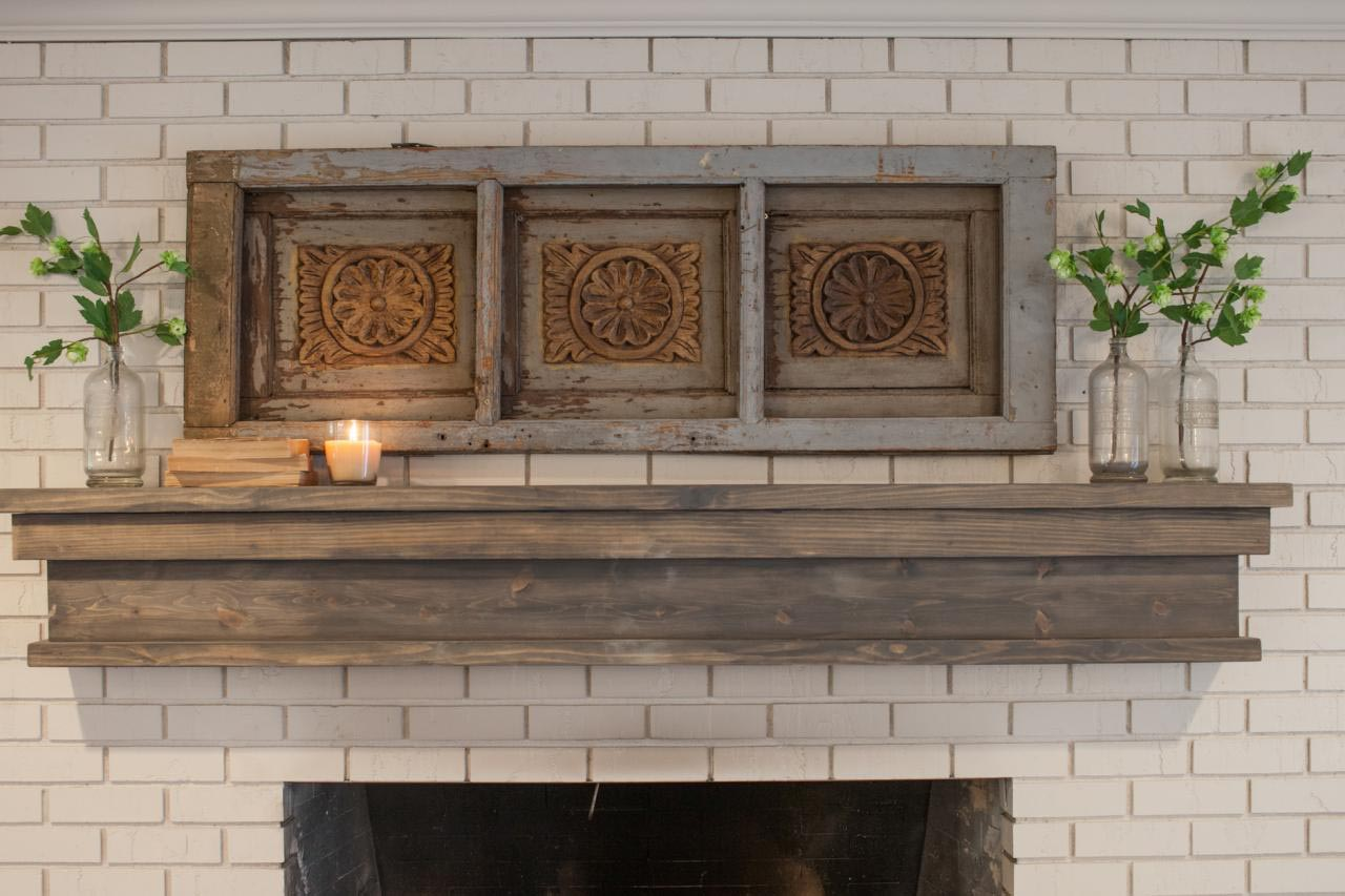 Tips for Diy Fireplace Mantel Ideas: DIY Rustic Fireplace Mantel