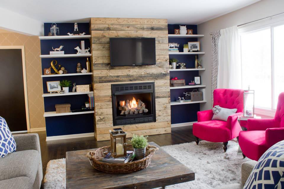 DIY Wood Fireplace Surround
