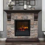 Electric Faux Stone Fireplace