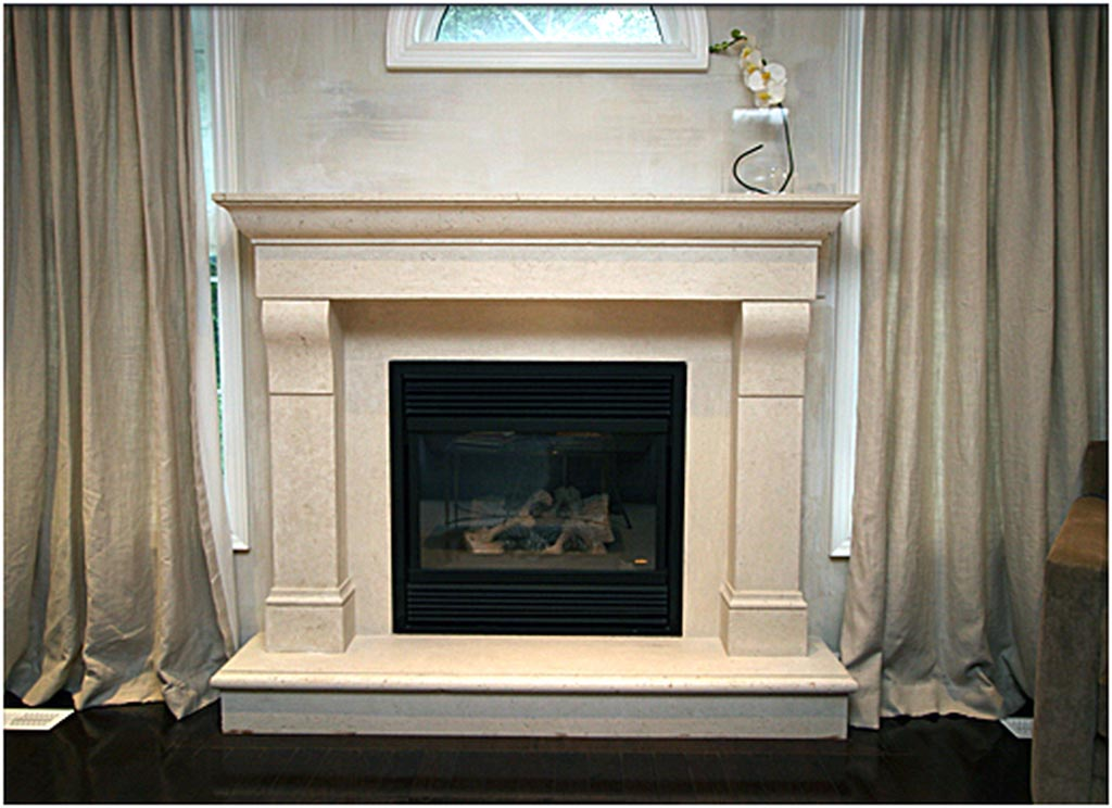 Electric Fireplace with Faux Stone