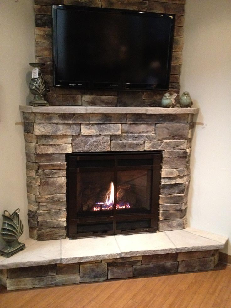 Electric fireplace with stone mantel fireplace designs for Bedroom electric fireplace ideas