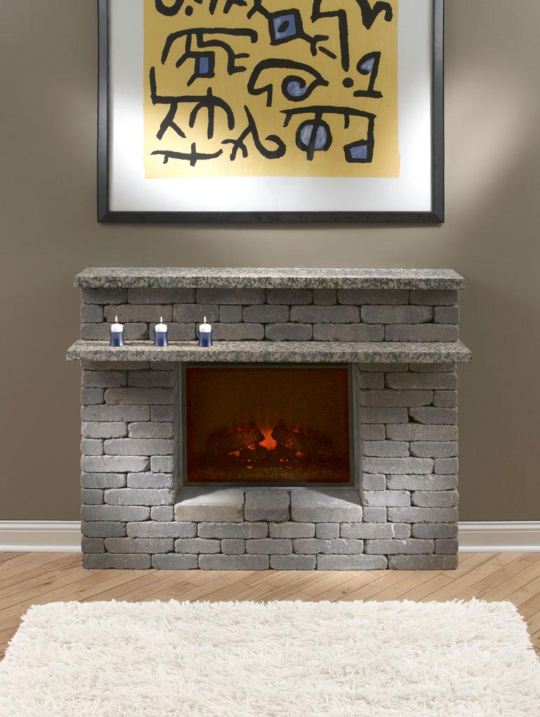 Electric Fireplace With Stone Surround | Fireplace Designs