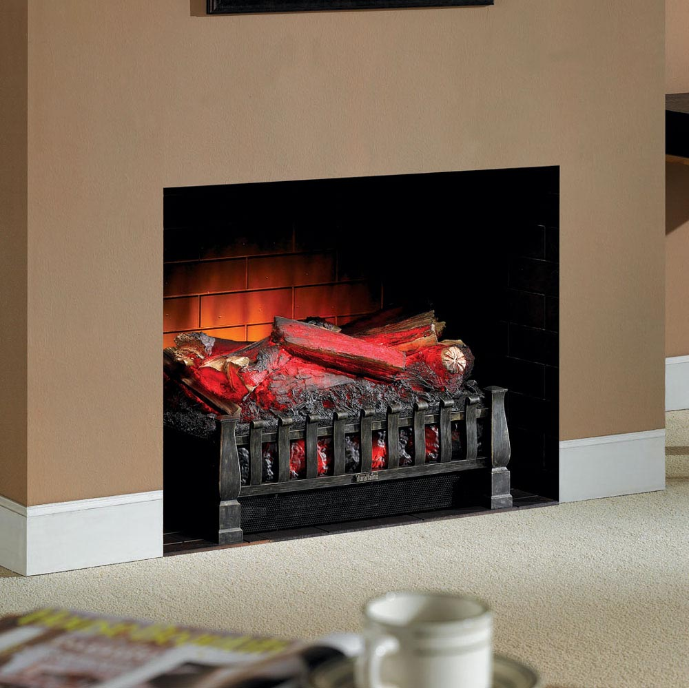 Fake fireplace insert must sound not really convincing