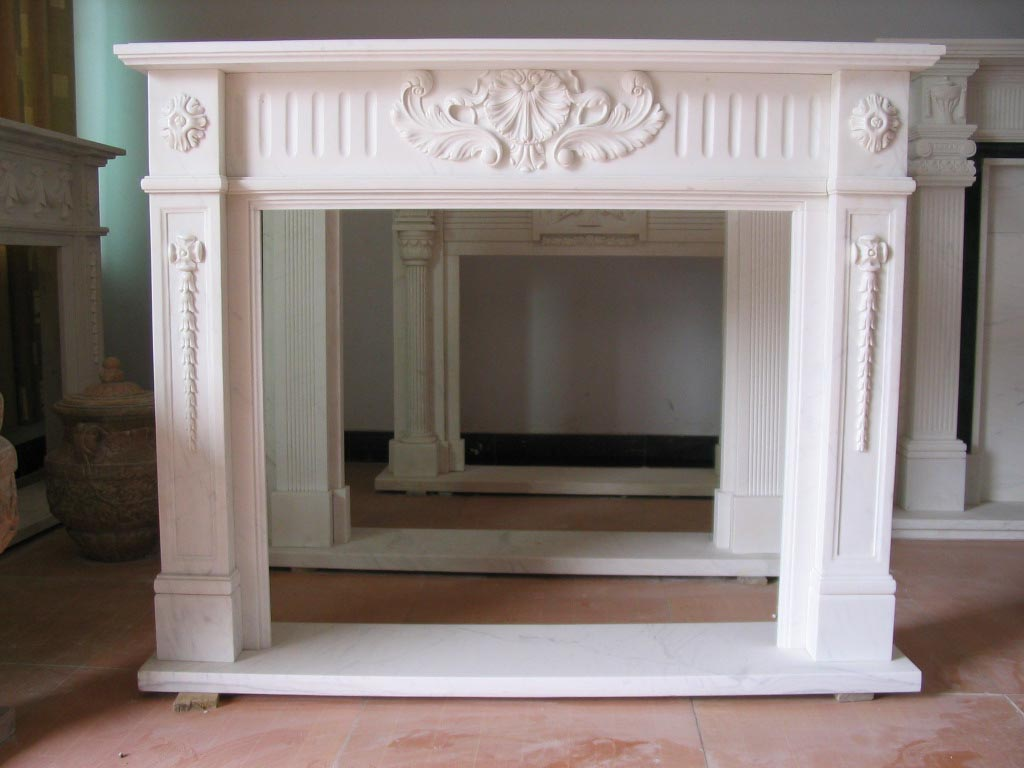 Ana white faux fireplace mantle with hidden storage for Faux marble fireplace mantels