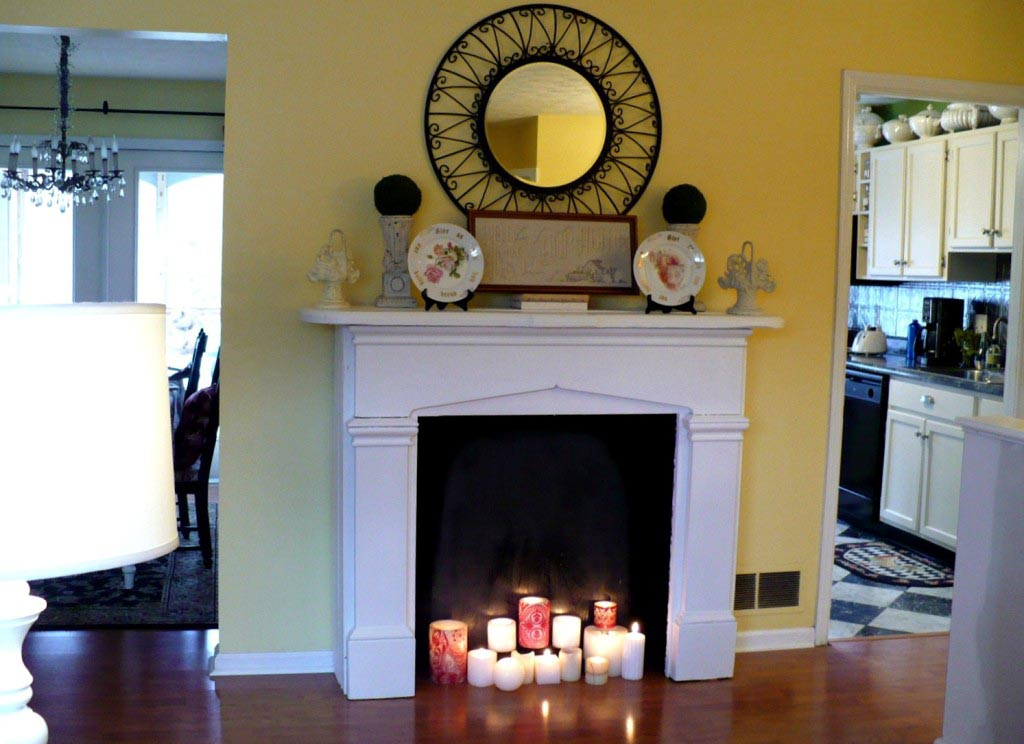 Fake fireplace mantel shelves fireplace designs Fireplace ideas no fire