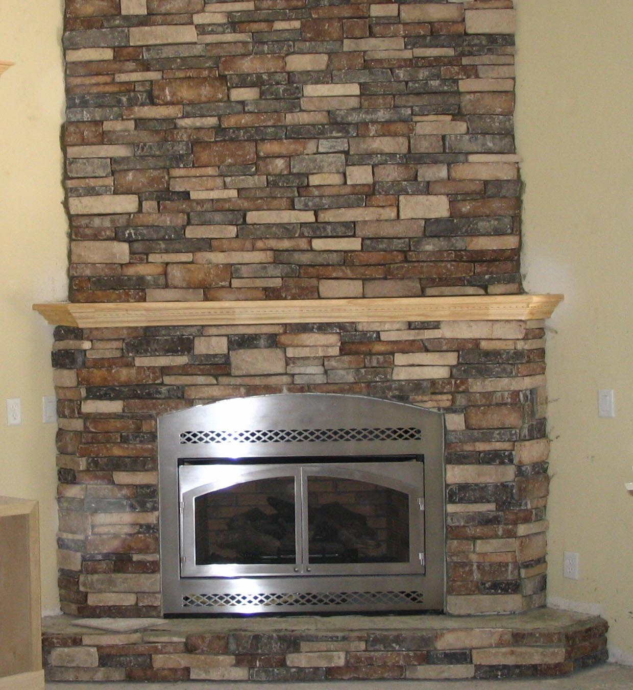 Fake Stone Fireplace Design Fireplace Designs