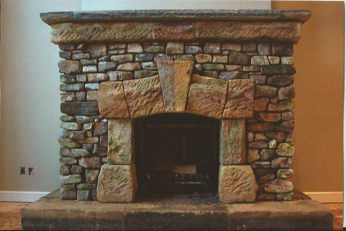 Fake Stone Fireplace Designs