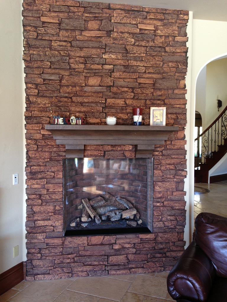 Fake Stone Fireplace Facade Fireplace Designs