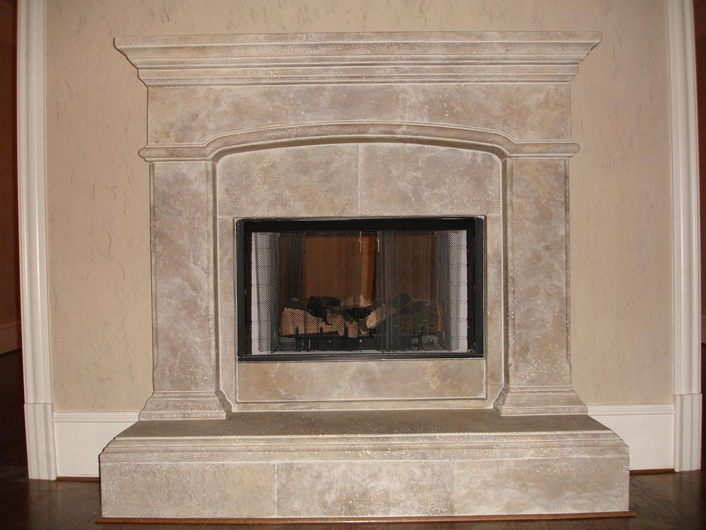 Great Style For Low Budget Fake Stone Fireplace