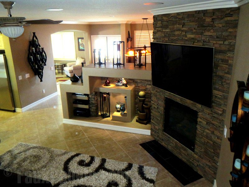 Fake Stone Fireplace Wall