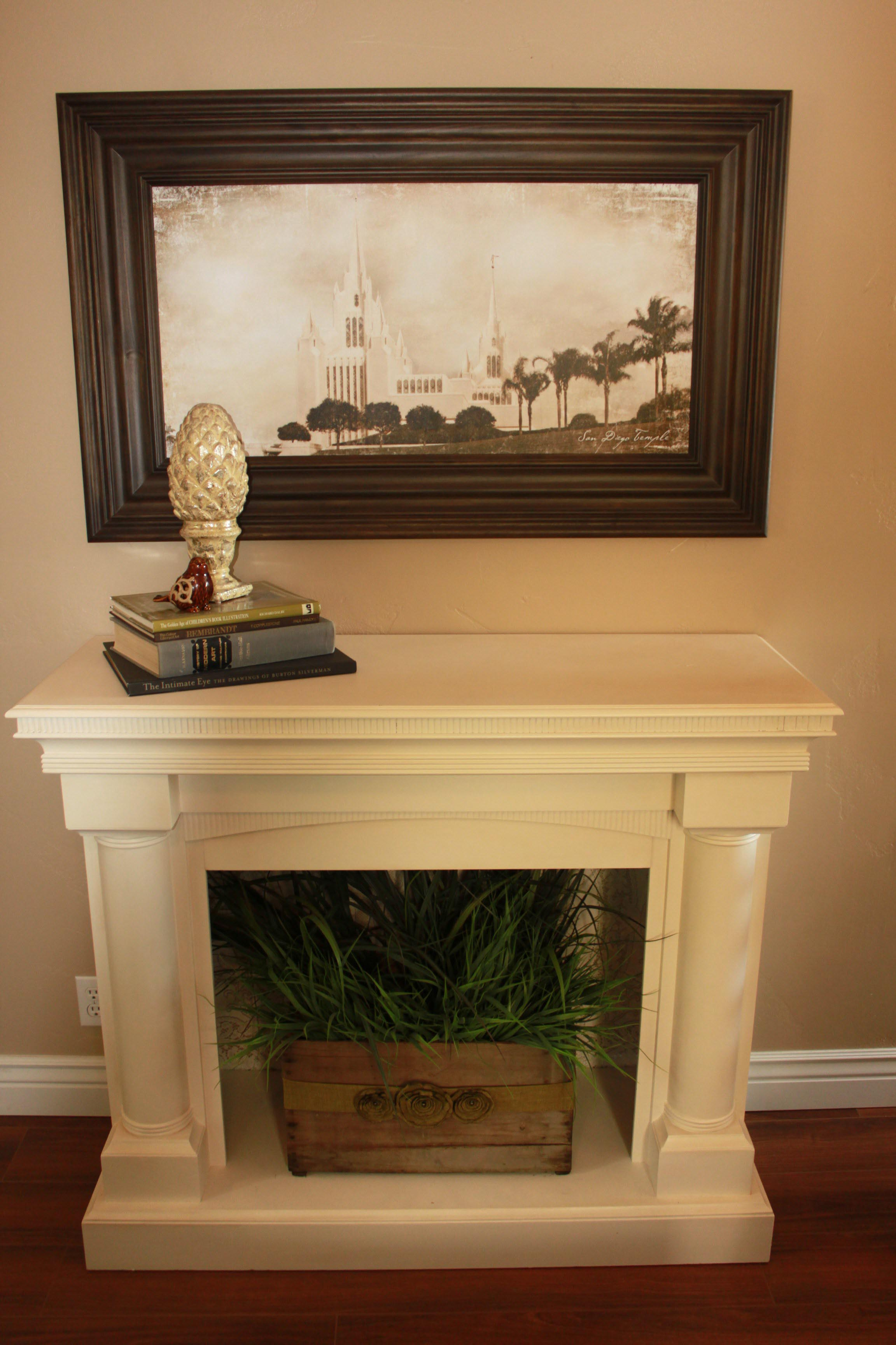 Faux fireplace mantel installation fireplace designs for Faux marble fireplace mantels
