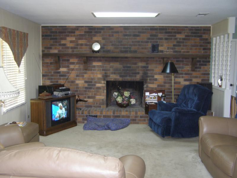Faux Painting Brick Fireplace