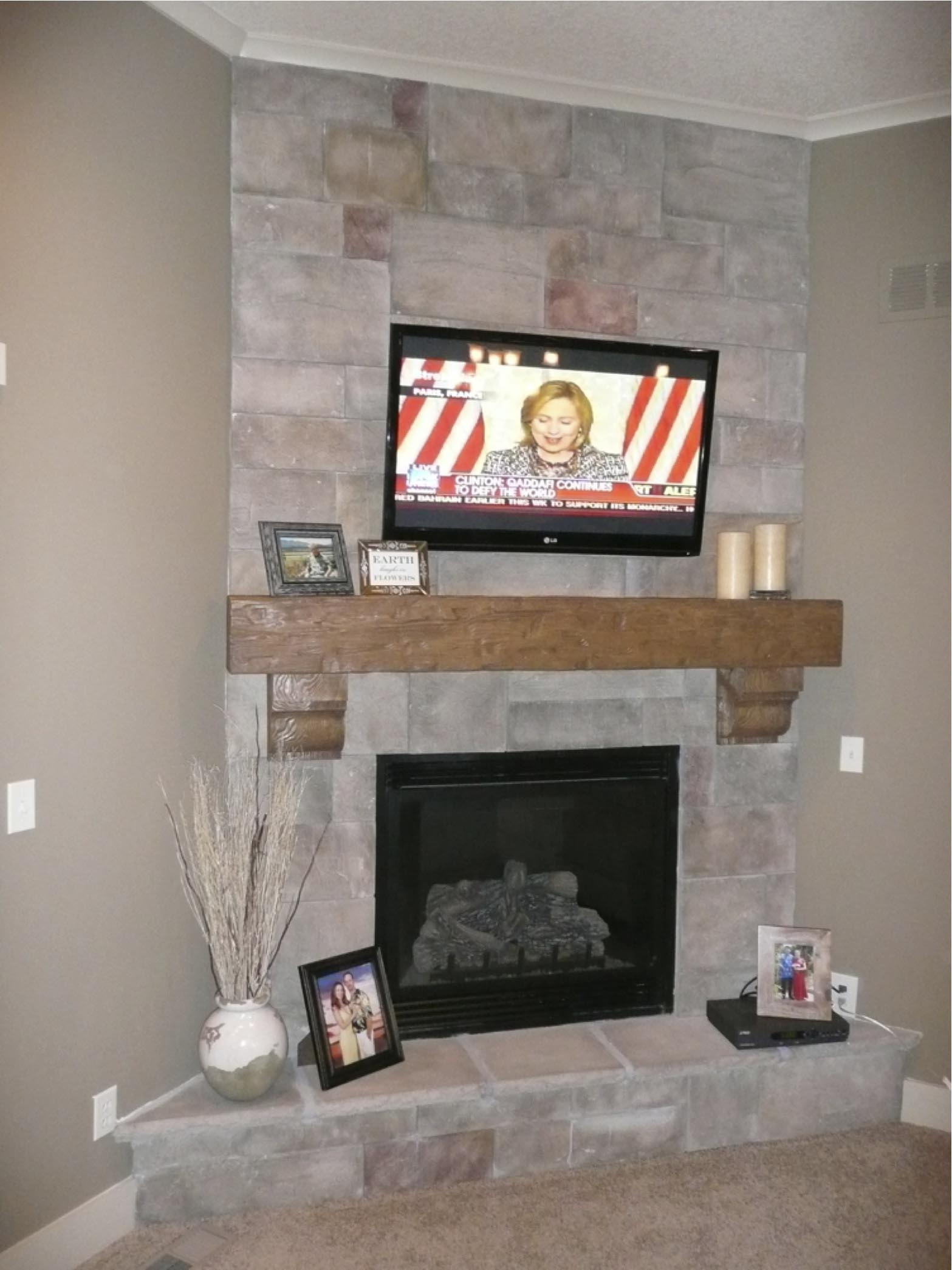 Faux Stone Fireplace Kits