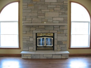 Faux Stone for Fireplace Facade