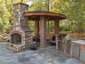 Fire Brick Outdoor Fireplace