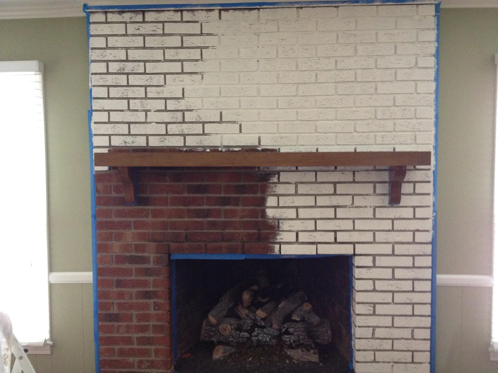 Fireplace brick paint colors fireplace designs - Painting over brick exterior photos ...