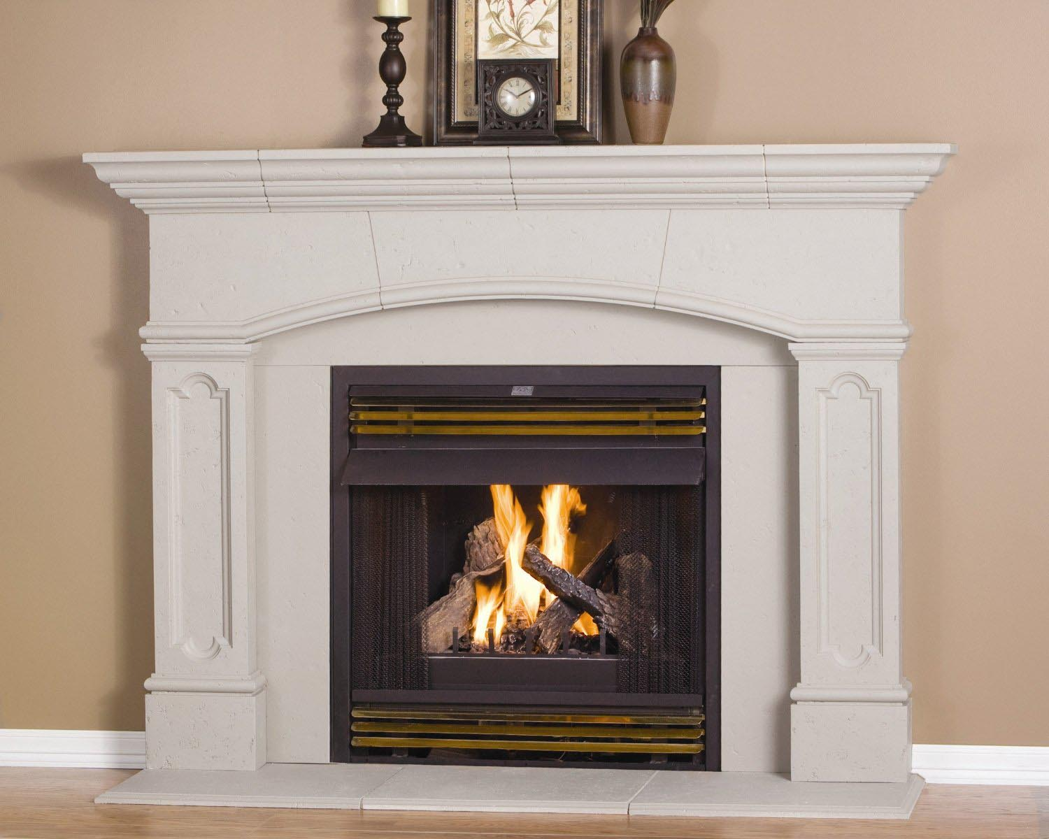 Fireplace mantel surrounds ideas fireplace designs - Brick fireplace surrounds ideas ...