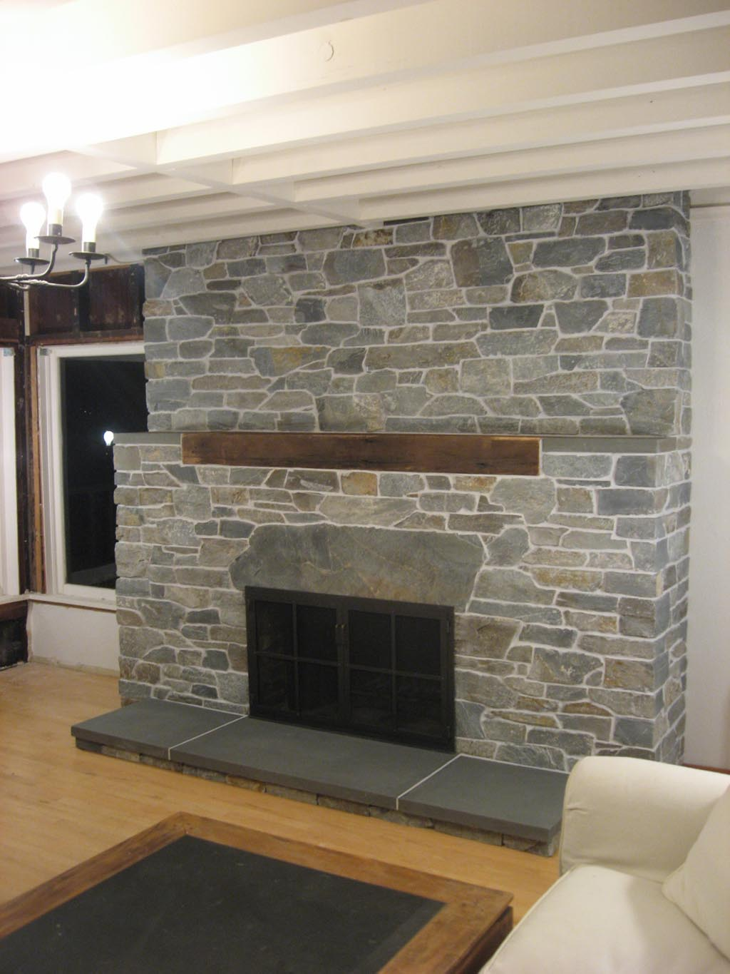 Fireplace Stacked Stone Veneer Fireplace Designs