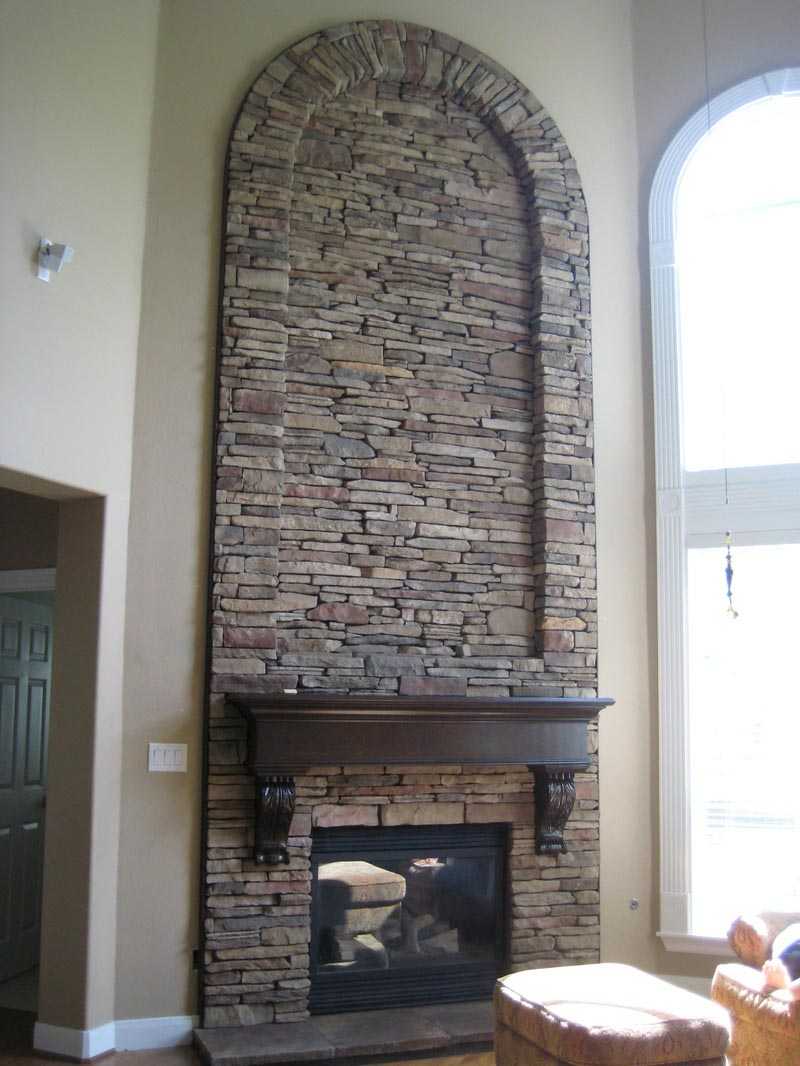 Fireplace With Stone Veneer Fireplace Designs