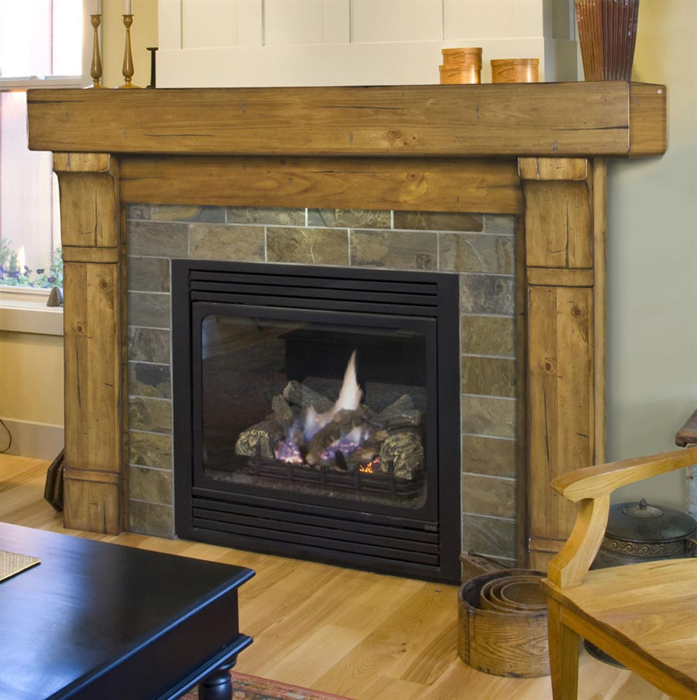 Gas fireplace mantels and surrounds fireplace designs - Gas fireplace mantels ideas ...